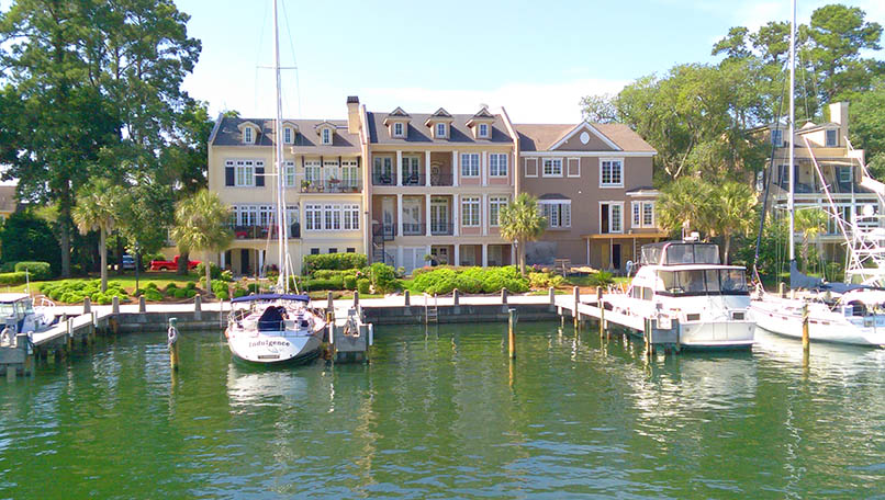 Homes and boats along the Windmill Harbour Marina | The Hilton Head Life